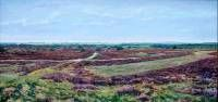 View from the Achemerberg. Oil on board 60 x 122 cm. 1996.  » Click to zoom ->
